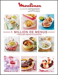 libro de recetas Moulinex Companion un millón de menús